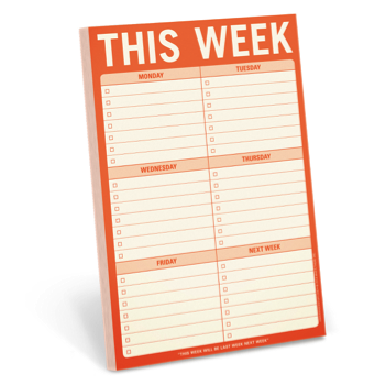 weekly planner pad - student holiday gift guide