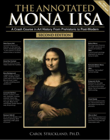 Annotated Mona Lisa - art student holiday gift guide
